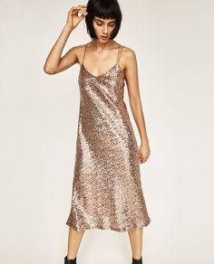 ZARA - レディ-ス - ロングスパンコール付きドレス