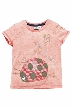 Buy Pink Appliqué Ladybird Top from the Next UK online shop Junior Outfits, Girl Outfits, Latest Fashion For Women, Mens Fashion, My Girl, Winter Fashion, Applique, T Shirts For Women, Children
