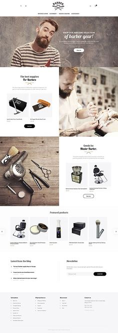 Amazing Barber Gear Online Store #Magento #template. #themes #business #responsive #webshop #Magentothemes