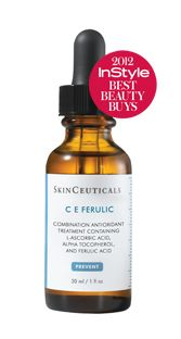 C E Ferulic® :  Breakthrough antioxidant combination of 15% pure L-ascorbic acid, 1% alpha tocopherol, and ferulic acid for advanced antioxidant performance.advanced protection against photoaging - neutralizing free radicals, helping build collagen, and providing unmatched antioxidant protection.Once absorbed, can't be washed or rubbed off - excellent for use in conjunction with suncreens .