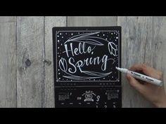 大人黒板なカレンダー3月(ポップカレンダー:ブラックボードカレンダー)
