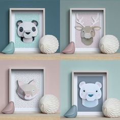 {Dossier DIY} 15 trophées d'animaux à réaliser! Diy Origami, Diy Paper, Paper Crafts, Diy Bebe, Paper Toys, Diy For Kids, Diy Room Decor, Diy And Crafts, Kids Room