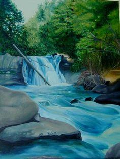 Waterfall by fluffyandblonde on DeviantArt