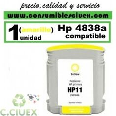 TINTA COMPATIBLE HP Nº 11 / C4838AE AMARILLO http://www.consumiblesciuex.com/hp-10-11-compatible/662-tinta-compatible-hp-n-11-c4838ae-amarillo.html