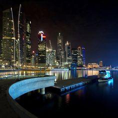 The New Marina Bay Promenade near completion – Singapore @ Night