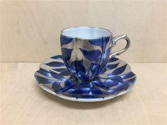 【有田焼 福泉窯】瓜型コーヒー碗皿.染錦銀彩葉紋 [Fs04503] - 10,080円(税込) :