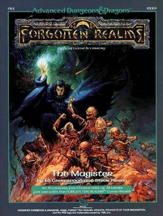 FR4 The Magister (1e) - Forgotten Realms | Book cover and interior art for Advanced Dungeons and Dragons 1.0 - Advanced Dungeons & Dragons, D&D, DND, AD&D, ADND, 1st Edition, 1st Ed., 1.0, 1E, OSRIC, OSR, fantasy, Roleplaying Game, Role Playing Game, RPG, Wizards of the Coast, WotC, TSR Inc. | Create your own roleplaying game books w/ RPG Bard: www.rpgbard.com