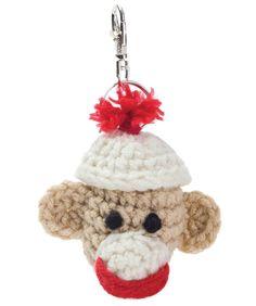 Sock Monkey Key Fob