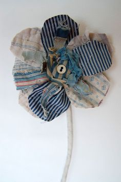 Fabric Flowers via Thread and Thirft