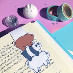 Cool Bookmarks, Custom Bookmarks, Creative Bookmarks, Bookmark Craft, Magnetic Bookmarks, We Bare Bears, Diy Crafts For Kids, Art For Kids, Minion Stickers