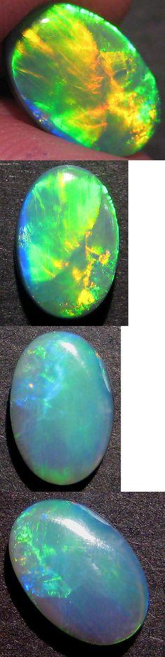 Doublets 10240: Magnificent Australian Lightning Ridge Opal Broadflash Doublet, 11X8mm -> BUY IT NOW ONLY: $118 on eBay!