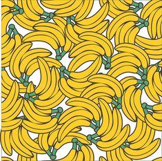 BANANA PRADA - PATTERN by jskiter, pattern, illustration, art, banana, yellow,