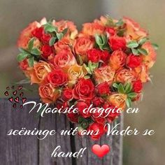 Good Night Flowers, Lekker Dag, Goeie More, Afrikaans Quotes, Special Quotes, Good Morning Wishes, Floral Wreath, Inspirational, Messages