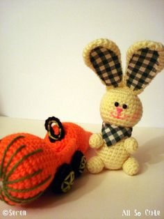 Awww love the bunny and his squash-mobile!