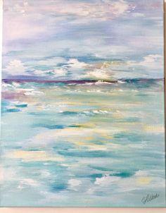 Beach sunrise abstract