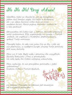 List od Świętego Mikołaja dla dzieci - spersonalizowany! - partymika