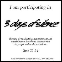 Three Days of Silence for Facebook & social media recap
