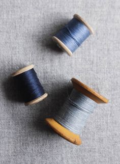 Blue thread.