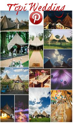 Boho Pins: Tipi Weddings