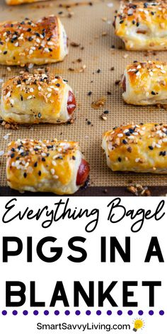 super bowl party food Everything Bagel Mini Pigs In A Blanket Recipe - A favorite easy party appetizer recipe is taken to the next level with everything bagel seasoning. Perfect finger food for your Super Bowl party. Finger Food Appetizers, Easy Appetizer Recipes, Yummy Appetizers, Easy Finger Food, Easy Appitizer, Easy Party Recipes, Easy Food For Party, Appetizer Party, Easy Dinner For Party