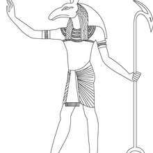 SETH god of Ancient Egypt  to color online - Coloring page - COUNTRIES Coloring Pages - EGYPT coloring pages - GODS AND GODDESSES of Ancient Egypt coloring pages