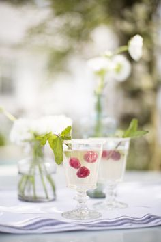 Limoncello Spritzer  limoncello, chilled white wine or prosecco, chilled seltzer or sprite ice lemon wedge fruit of choice (we recommend raspberries) sugar DIRECTIONS Rim glass with sugar and fill with ice. Fill glass half way with white wine or prosecco and add a few tablespoons of limoncello. If you want to include fruit, add small amounts to each glass. Top off with seltzer or sprite. Garnish with lemon wedge.