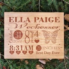 Similar Products: Personalized Baby Birth Announcement Box