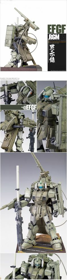 GUNDAM GUY: 1/100 RGM-79 Sniper & Heavy Armed - Custom Build