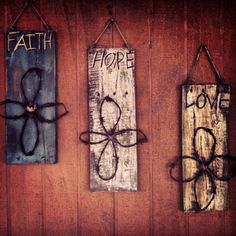 Distressed rustic wood signs by KadysKustomKrafts on Etsy, $30.00