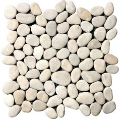 Marble Systems 10-Pack 12-in x 12-in Tan Pebbles Natural Stone Wall... ($113) ❤ liked on Polyvore