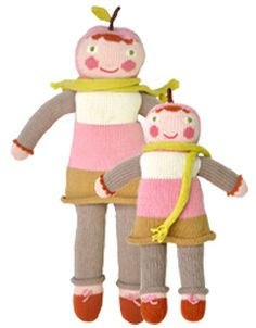 Blabla Kids Pom the Apple knit doll
