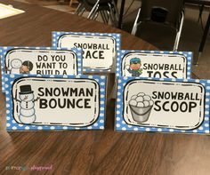 Winter Minute To Win It In the Classroom