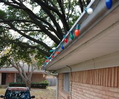 Hanging Christmas Lights Made Easy by lazyb (for lights on gutters.)