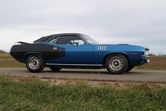 """71 Plymouth Hemi Cuda. I am not sure what the official description was but I thought this paint scheme was called """"the blackboard""""."""