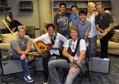 Rock and country join forces! Rascal Flatts and Journey backstage at rehearsals. #CMTawards #GettyImages #RascalFlatts #Journey