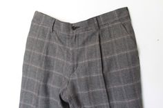 pant 1 pince check in wool blend