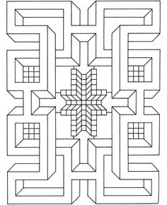 """From a book called """"Big Book of Geometric Designs and Illusions to Color"""" from Dover Publications."""