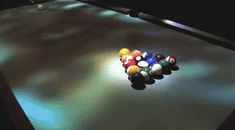 This Pool Table ...would totally mess me up!! ...but how cool!!