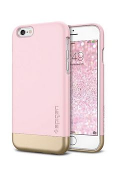 iPhone 6 Case, Spigen® [Safe Slide] iPhone 6 Case Protective [Style Armor] [Sherbet Pink] SOFT-Interior Scratch Protection Metallic Finished Base with Dual Layer Protection Slim Trendy Hard Case for iPhone 6 - Sherbet Pink Spigen Cool Iphone Cases, Iphone 6 Cases, Mobile Phone Cases, Cute Phone Cases, Iphone 5s, Apple Iphone, Phone Covers, Pink Iphone, Coque Iphone