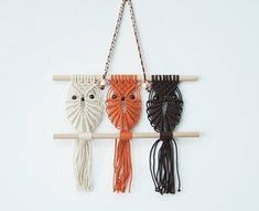 A personal favourite from my Etsy shop https://www.etsy.com/au/listing/583541313/macrame-owl-wall-hanging-nursery-kids
