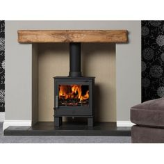 ACR Malvern - Ex-display (One Only) - The Stove House Midhurst Nr Chichester West Sussex Log Burner Living Room, Living Room With Fireplace, New Living Room, Living Room Decor, Gas Wood Burner, Electric Log Burner, Electric Fires, Wood Burner Fireplace, Oak Mantle