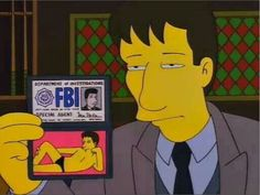 David Duchovny on The Simpsons.