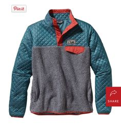 {fall must-have}  Patagonia cotton quilt snap-t pullover, $149