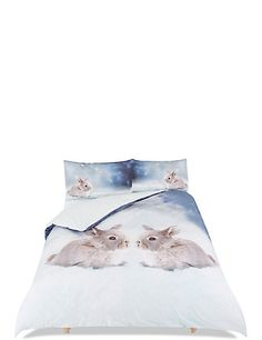 Buy the Digi Print Rabbit Bedding Set from Marks and Spencer's range. Christmas Home, Bedding Sets, Rabbit, Tapestry, Stylish, Accessories, Home Decor, Bunny, Hanging Tapestry