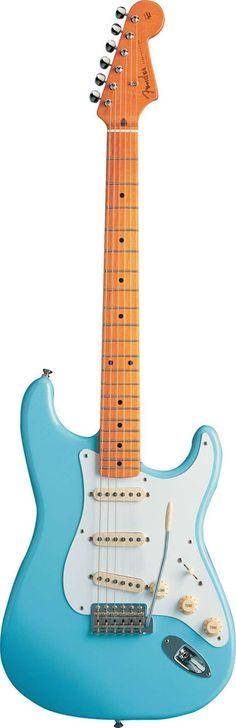 2013 Daphne Blue FENDER Stratocaster MIM - Peter Florance pick ups