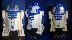 pastel de R2D2 de la Guerra de las Galaxias. Star Wars cake