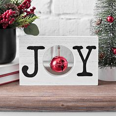 Add some festive holiday flair with our Joy Wooden Word Block with Bell! Place this word block on your shelves, coffee or entryway table to finish off your Christmas design. Word block measures x x in. Crafted of wood White finish Features the word Wooden Christmas Decorations, Christmas Wood Crafts, Farmhouse Christmas Decor, Christmas Signs, Diy Christmas Gifts, Christmas Projects, All Things Christmas, Winter Christmas, Holiday Crafts