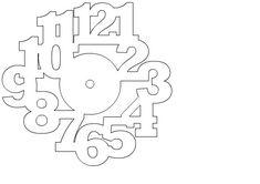 Nerd Club: Laser cut Christmas clocks and files: