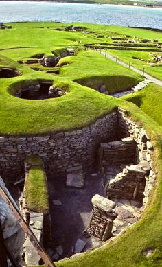 Its appearance is as mystical as its discovery. A heavy storm in the late 19th century tore through the aged low cliffs at Shetland, revealing an unusual settlement.