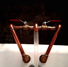 Copper Pipe Faucets.